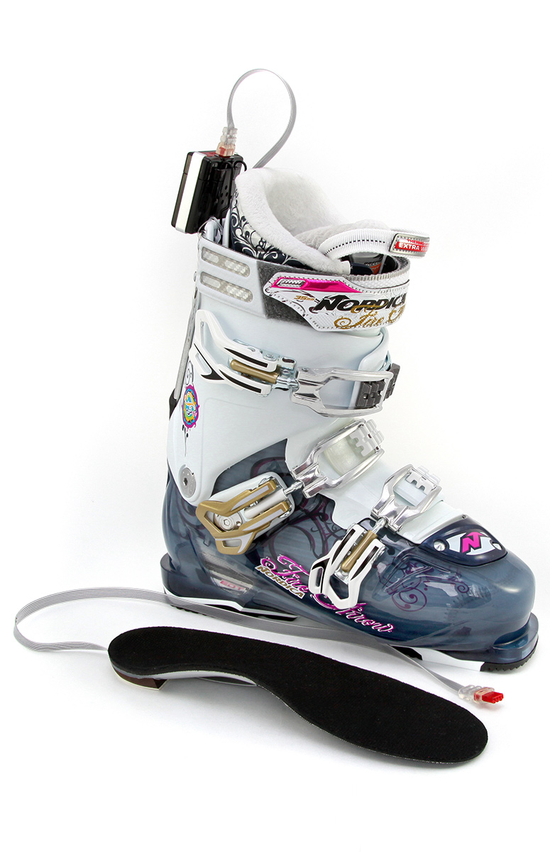 Orthèse chauffante pour botte de ski